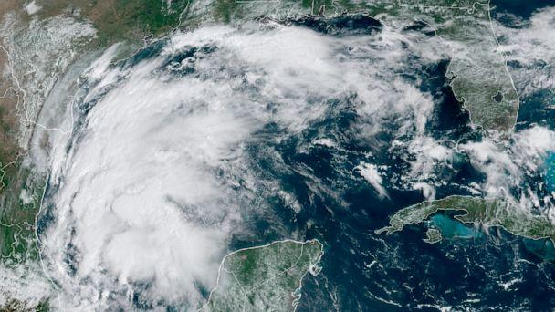 PHOTO: Tropical Storm Nicholas in the Gulf of Mexico, Sept. 12, 2021. (NOAA via AP)
