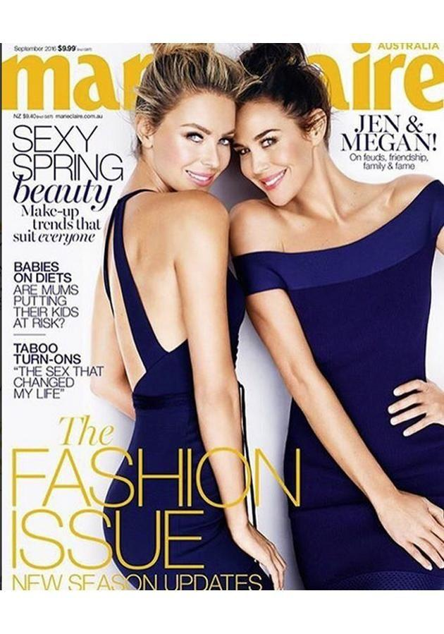Jennifer Hawkins and Megan Gale on the cover of Maire Claire magazine.