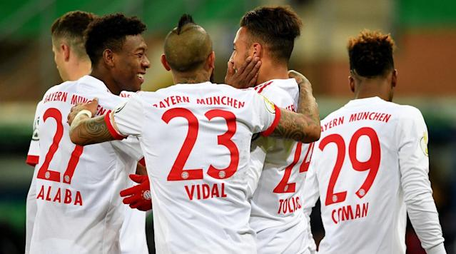 "<p>Bayern Munich is the runaway leader in the Bundesliga, but it meets one of its toughest opponents when it welcomes Schalke to the Allianz Arena on Saturday.</p><p>Schalke is one of five teams in the thick of the hunt for second place and is hoping to play its way into a Champions League place before its star midfielder, Leon Goretzka, departs for Bayern. The two parties agreed to a pre-contract in the winter, meaning Bayern will poach another Bundesliga talent for no transfer fee come July.</p><p>Before Goretzka makes the rich richer, he'll look to slow down his future team's title romp.</p><p>Both teams are coming off midweek triumphs in the DFB Pokal, with the two making up half of the semifinal field.</p><p>Here's how to watch the match:</p><p><strong>Time</strong>: 12:30 p.m. ET</p><p><strong>TV</strong>: Fox Sports 2</p><p><strong>Live Stream</strong>: You can watch the match live via FuboTV. <a href=""https://www.fubo.tv/lp/planet-futbol/"" rel=""nofollow noopener"" target=""_blank"" data-ylk=""slk:Sign up here for a free seven-day trial"" class=""link rapid-noclick-resp"">Sign up here for a free seven-day trial</a>.</p>"