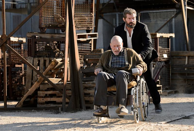 Hugh Jackman and Patrick Stewart in 'Logan' (credit: 20th Century Fox)