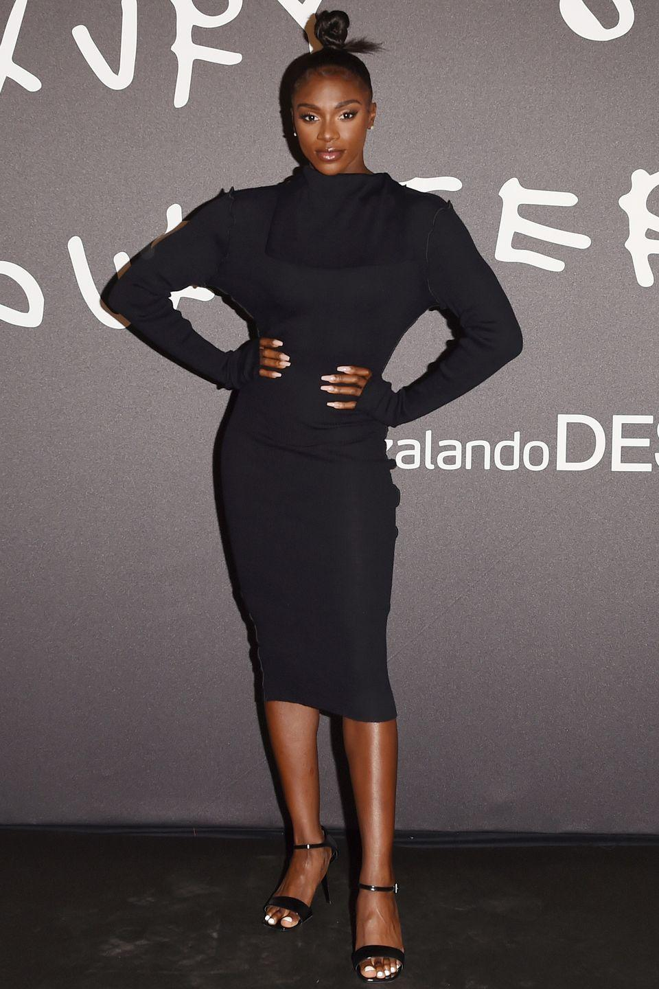 <p><strong>24 September </strong></p><p>Dina Asher-Smith opted for the classic LBD at Zalando's 'Luxury on your Terms' event at Milan Fashion Week. </p>