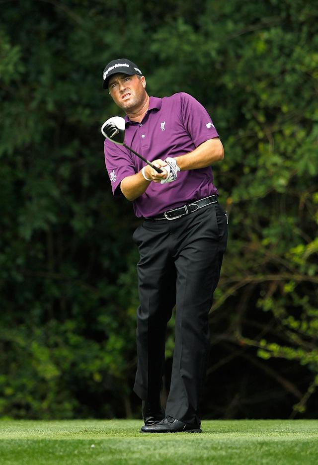 PALM BEACH GARDENS, FL - MARCH 01: Ryan Palmer hits his tee shot on the third hole during the first round of the Honda Classic at PGA National on March 1, 2012 in Palm Beach Gardens, Florida. (Photo by Mike Ehrmann/Getty Images)
