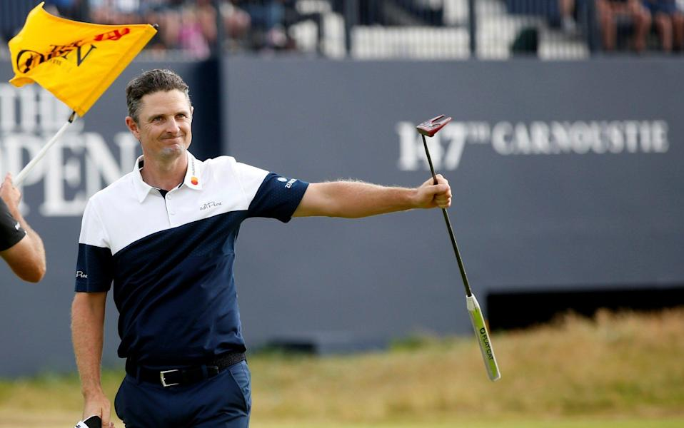 Justin Rose's wonderful weekend at Carnoustie lifted him from being on the cusp of missing the cut to second place, behind winner Francesco Molinari. - REUTERS