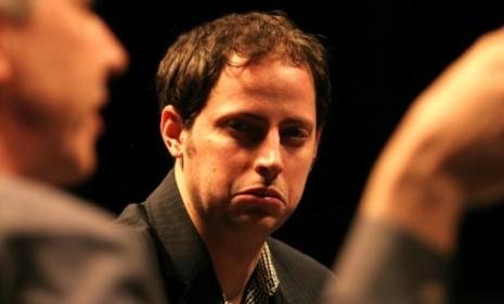 Nate Silver, not drunk, in 2009: The numbers guru's spot-on predictions inspired a waggish election-night meme.