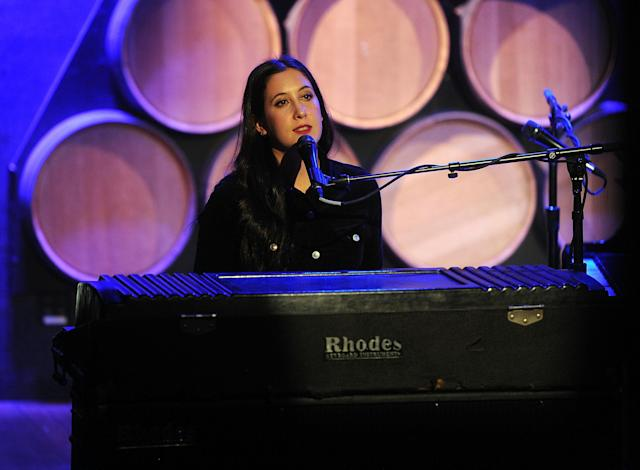 Vanessa Carlton, pictured in 2015, was uncomfortable with Chris Brown's support. (Photo: Brad Barket/Getty Images)