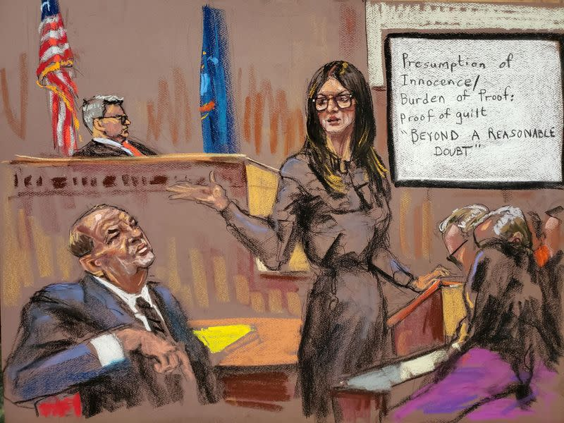 Attorney Donna Rotunno makes her closing arguments to the jury in front of Judge James Burke at New York Criminal Court