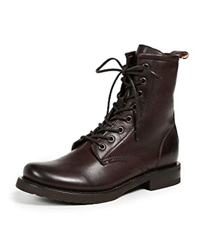 frye boots, lace up boots, brown boots