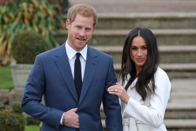 "Prince Harry and Meghan Markle will walk down the aisle to say ""I do"" on May 19. (Photo: Getty Images)"