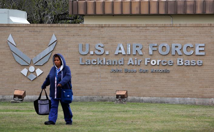 A person quarantined at this Air Force base in San Antonio, Texas, after evacuated from China has tested positive for the coronavirus, health officials said. (Photo: ASSOCIATED PRESS)