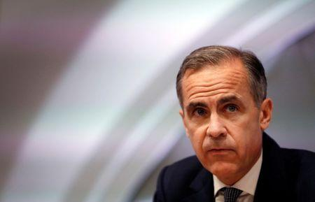 FILE PHOTO: Mark Carney, Governor of the Bank of England attends the quarterly Inflation Report press conference at the bank in London