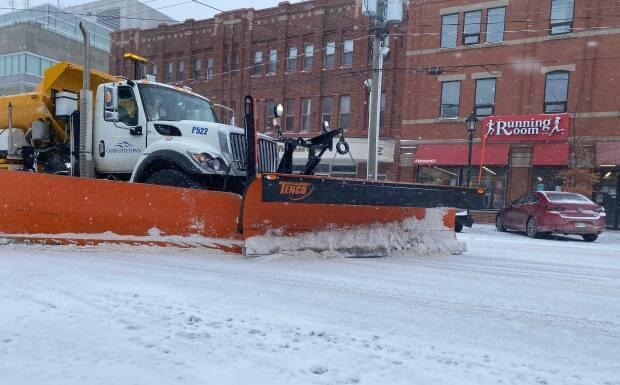 Plows were bust trying to keep the roads clear Tuesday.