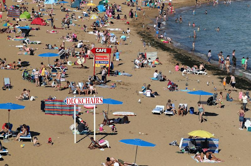 People enjoy the sunny weather in Broadstairs, Kent: PA