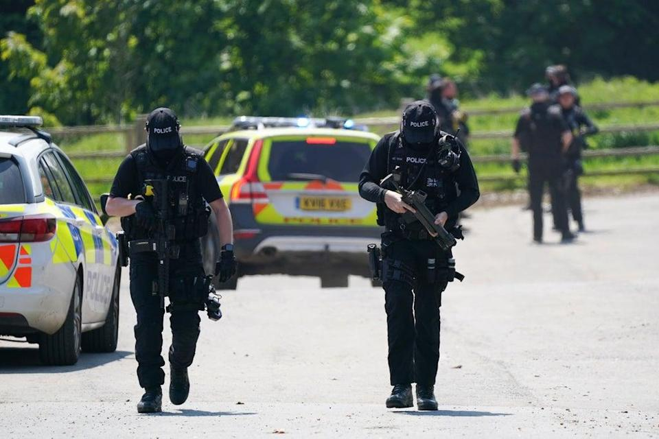 The suspect was arrested at a farm in Louth (Joe Giddens/PA) (PA Wire)