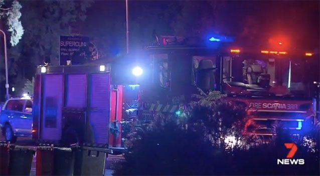 Emergency crews at the scene. Source: 7 News