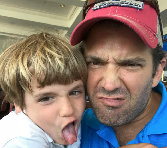 Donald Trump Jr. with his son Spencer. (Photo: Instagram)
