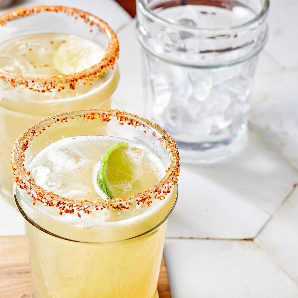 <p>This easy margarita recipe is like vacation in a glass. A bit of the chile-lime seasoning Tajín on the rim of your glass contrasts with the sweet orange and agave.</p>