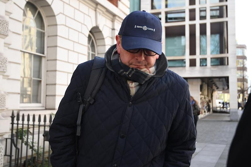 James Lattimer outside Westminster Magistrates' Court who has been told by a judge he could go to jail for faking a membership card for Lord's Cricket Ground which gave him access to the best seats. PA Photo. Picture date: Wednesday February 12, 2020. Lattimer pleaded guilty to the charge of making/supplying an article for use in fraud. See PA story COURTS Cricket. Photo credit should read: Victoria Jones/PA Wire