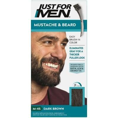 """<p>""""To tint your brows at home, <span>Just For Men Mustache and Beard Beard Color</span> ($9) has a mustache and beard dye in different shades of medium brown, jet black, and light brown. This is a liquidy foam and it's meant for men's facial hair, but it can be great to tint your brows when you're in a pinch at home."""" - <a href=""""https://www.instagram.com/joeyhealybrows/"""" class=""""link rapid-noclick-resp"""" rel=""""nofollow noopener"""" target=""""_blank"""" data-ylk=""""slk:Joey Healy"""">Joey Healy</a>, celebrity brow stylist</p>"""