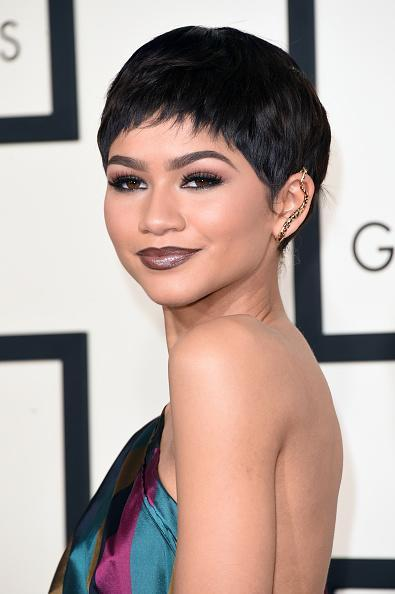 <p>Zendaya showed off her new sophisticated do at the Grammy's back in 2015. <i>[Photo: Getty]</i></p>