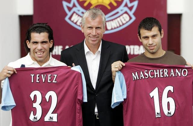 West Ham's signing of Carlos Tevez (left) and Javier Mascherano (right) breached Premier League rules