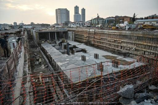 The stalled Dudullu-Bostanci metro construction site is emblematic of the financial squeeze facing municipal authorities in Istanbul, under opposition management since March