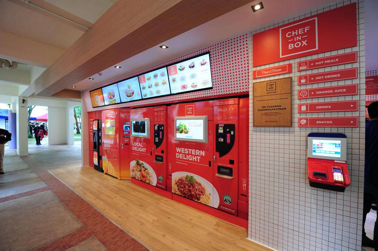 The cafe has a menu that rotates over a roster of 30 meal options, offering local delights, Western, Malay, Indian and Japanese cuisines priced between $3.50 and $5. (Photo by: JR Vending)
