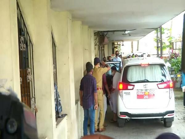 Kerala Minister KT Jaleel appears before Customs office in Kochi on Monday. Photo/ANI