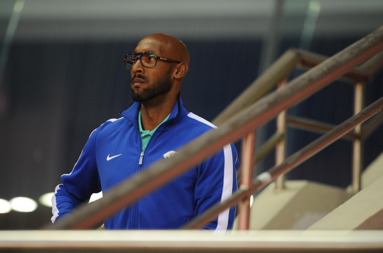French striker Nicolas Anelka arrives for a Shanghai Shenhua game at the Hongkou Stadium in Shanghai on May 27, 2012. Former Argentina manager Sergio Daniel Batista arrived in China and is expected to take charge of Anelka's Shanghai Shenhua in the coming days.  AFP PHOTO/Peter PARKSPETER PARKS/AFP/GettyImages