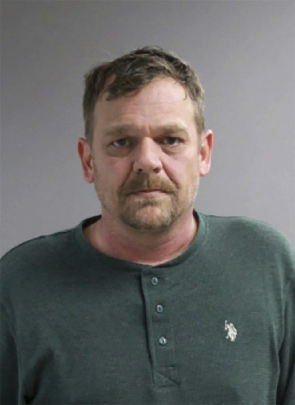 This undated photo provided by the Jackson County Sheriff's Office shows Robert Keegan, who is being held without bail after pleading not guilty to second-degree murder, manslaughter and other charges for the Nov. 23, 2020, killing of Aidan Ellison, a Black man. (Jackson County Sheriff's Office via AP)