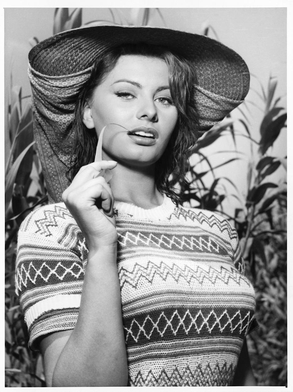 The Italian actress in an undated photo.