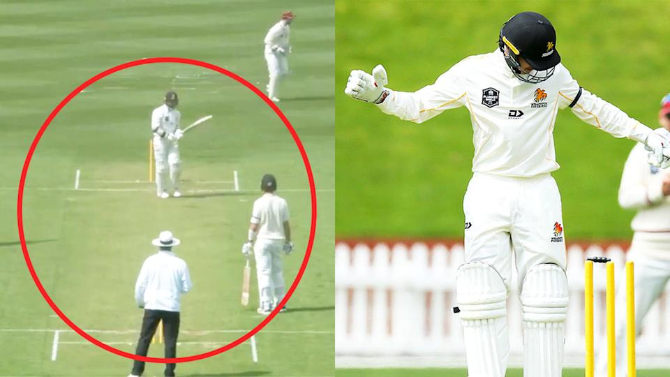 The Plunket Shield match between Wellington and Canterbury at Basin Reserve on a green deck (pictured left) and  played on a green wicket, which saw the Wellington Firebirds (pictured right) and Andrew Fletcher (pictured right) being bowled.