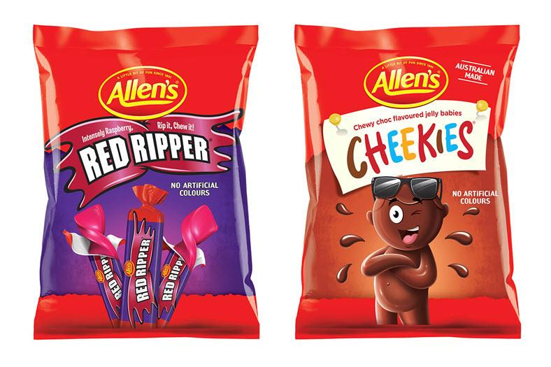 People can expect to see Allen's Red Ripper's and Cheekies on the shelves in 2021. Source: Allen's lollies