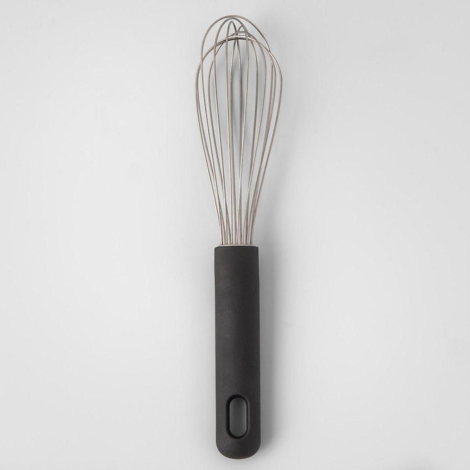 """<p><a class=""""link rapid-noclick-resp"""" href=""""https://www.target.com/p/stainless-steel-whisk-nbsp-with-soft-grip-9-made-by-design-153/-/A-53142257"""" rel=""""nofollow noopener"""" target=""""_blank"""" data-ylk=""""slk:BUY NOW"""">BUY NOW</a> <strong><em>$6, target.com</em></strong><br></p><p>A high-quality whisk for six bucks is a no brainer.</p>"""