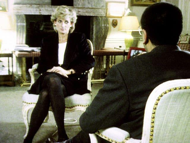Diana, Princess of Wales, during her interview with Martin Bashir
