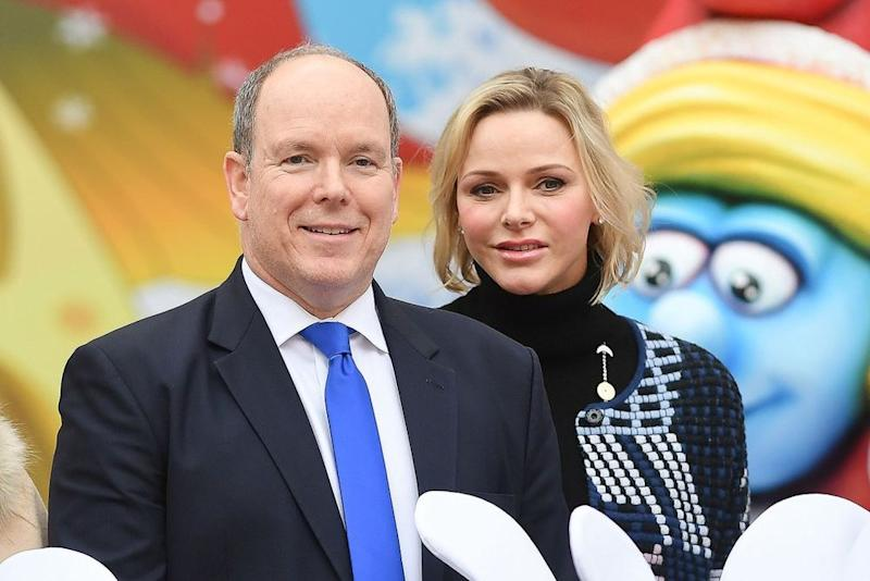 Princess Charlene and Prince Albert on December 18, 2019. | Stephane Cardinale - Corbis/Corbis via Getty