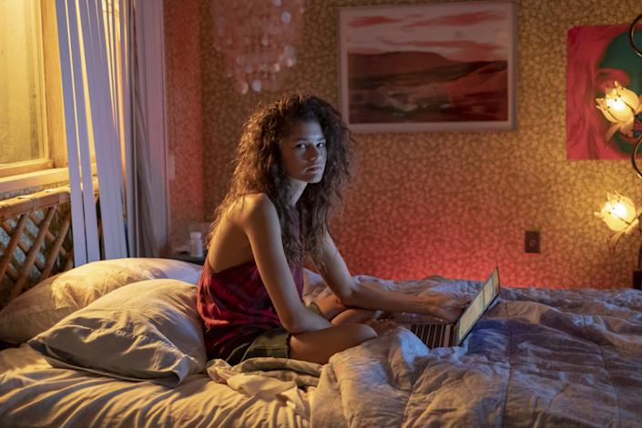 """Zendaya in a scene from the HBO show Euphoria. <span class=""""copyright"""">Eddy Chen—HBO</span>"""