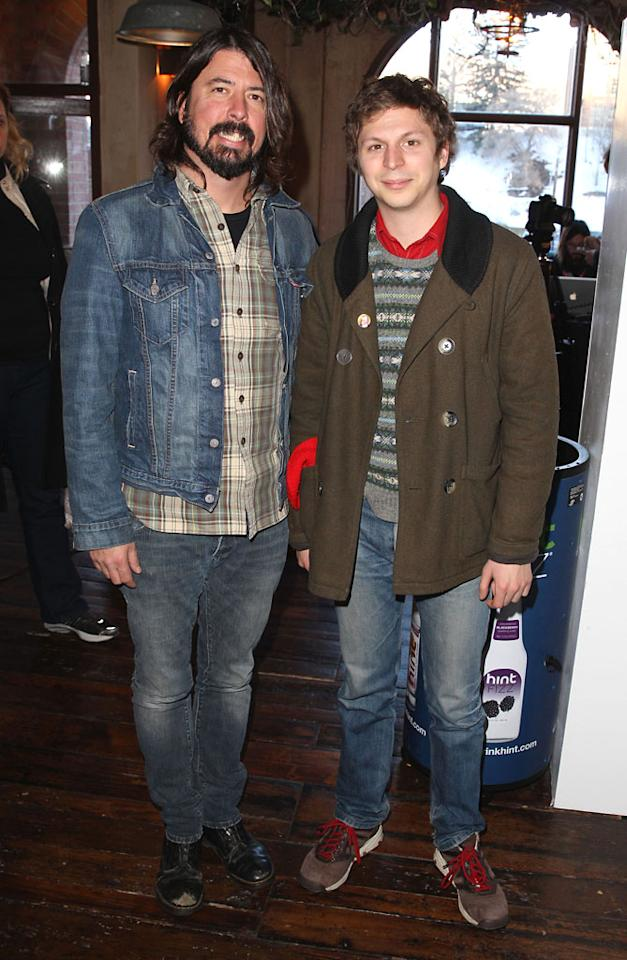 PARK CITY, UT - JANUARY 22:  (L-R) Musician Dave Grohl and actor Michael Cera attend Day 4 of the Variety Studio at 2013 Sundance Film Festival on January 22, 2013 in Park City, Utah.  (Photo by Joe Scarnici/Getty Images)