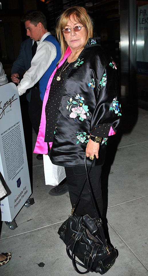 Penny Marshall goes to the David Geffen party in Beverly Hills.