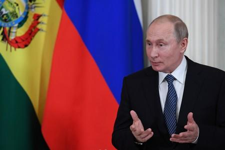Russian President Vladimir Putin holds talks with his Bolivian counterpart Evo Morales in Kremlin