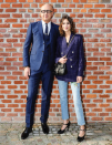 <p>Alexa Chung went for a smart tailored look. <i>[Photo: Instagram/gucci]</i> </p>