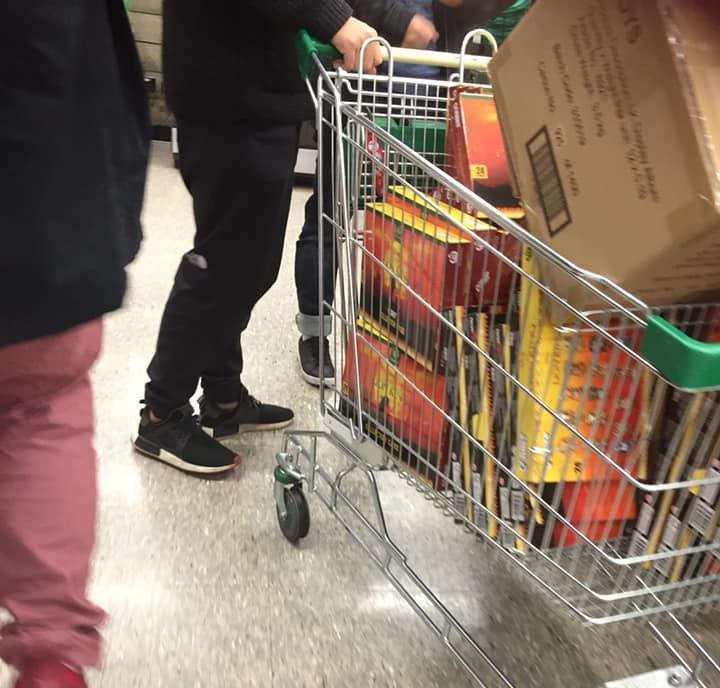 A Woolworths customer claims she saw a shopper in Adelaide checking out with a trolley full of Lion King collector cases. Source: Supplied.