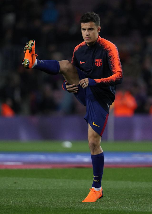 Soccer Football - La Liga Santander - FC Barcelona vs Girona - Camp Nou, Barcelona, Spain - February 24, 2018 Barcelona's Philippe Coutinho during the warm up before the match REUTERS/Sergio Perez