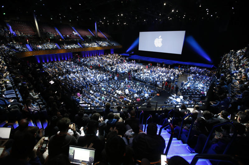 Global reach: last year's Apple Worldwide Developers Conference in San Francisco: AP