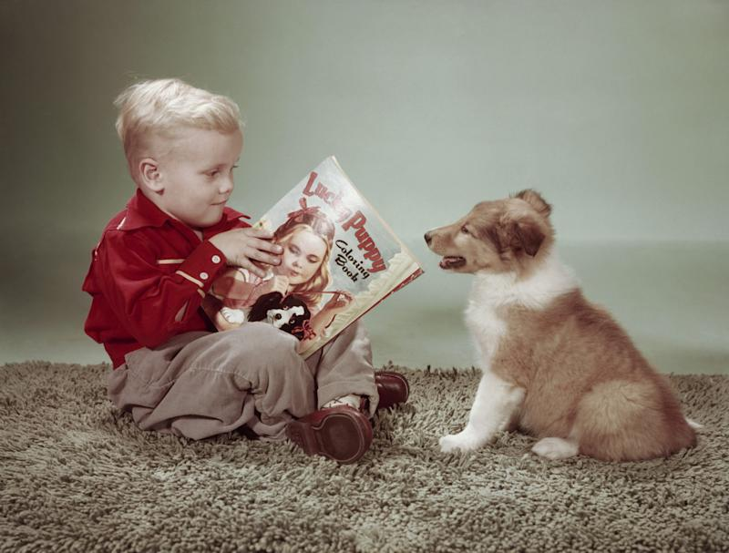 Teach Your Kid to Love Reading by Having Them Read to the Family Dog