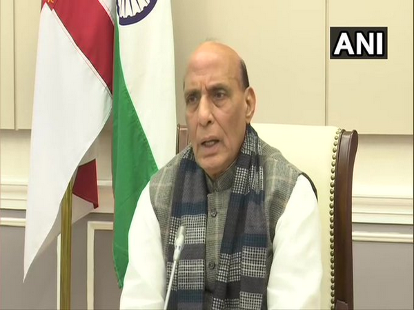 Defence Minister Rajnath Singh addressing Military Literature Festival-2020, via video conference.