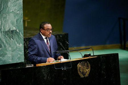 Ethiopian Prime Minister Hailemariam Desalegn addresses the 72nd United Nations General Assembly at U.N. headquarters in New York, U.S., September 22, 2017. REUTERS/Eduardo Munoz