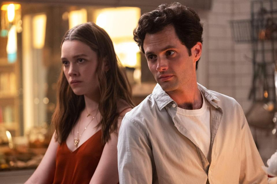 YOU, from left: Victoria Pedretti, Penn Badgley, 'The Good, the Bad, & the Hendy', (Season 2, ep. 204, aired Dec. 26, 2019). photo: Beth Dubber / Netflix / Courtesy: Everett Collection