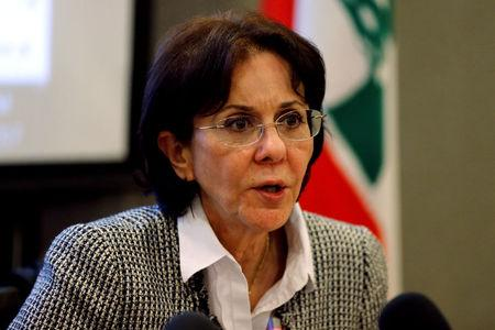 U.N. Under-Secretary General and ESCWA Executive Secretary Rima Khalaf speaks during a news conference in Beirut