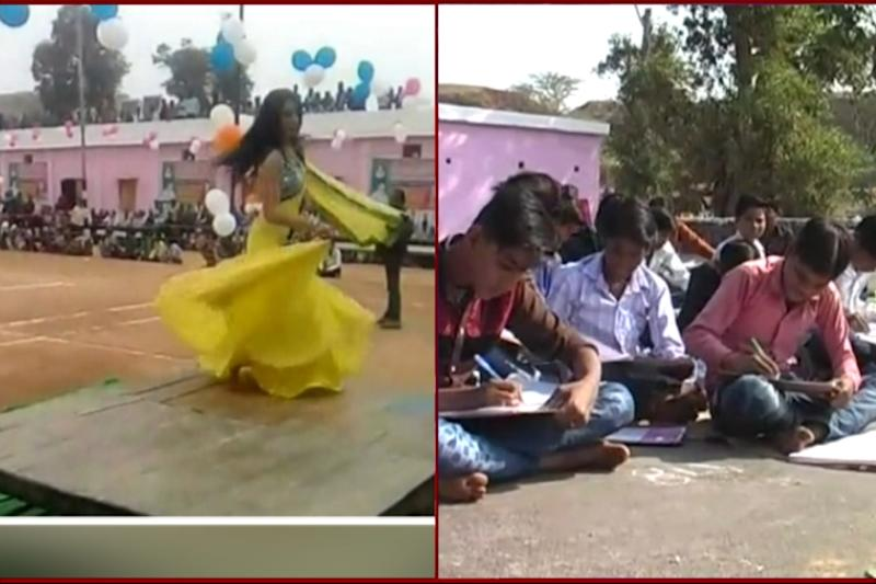 BJP MLA Watches Dance Performance As Kids Write Exam in MP School