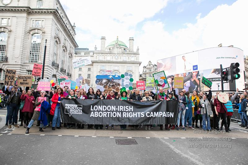 The London-Irish Abortion Rights Campaign is bringing legal action against the government over their inaction in Northern Ireland